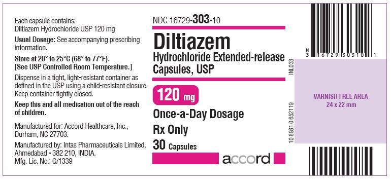 Diltiazem hydrochloride 120mg Capsule- Label