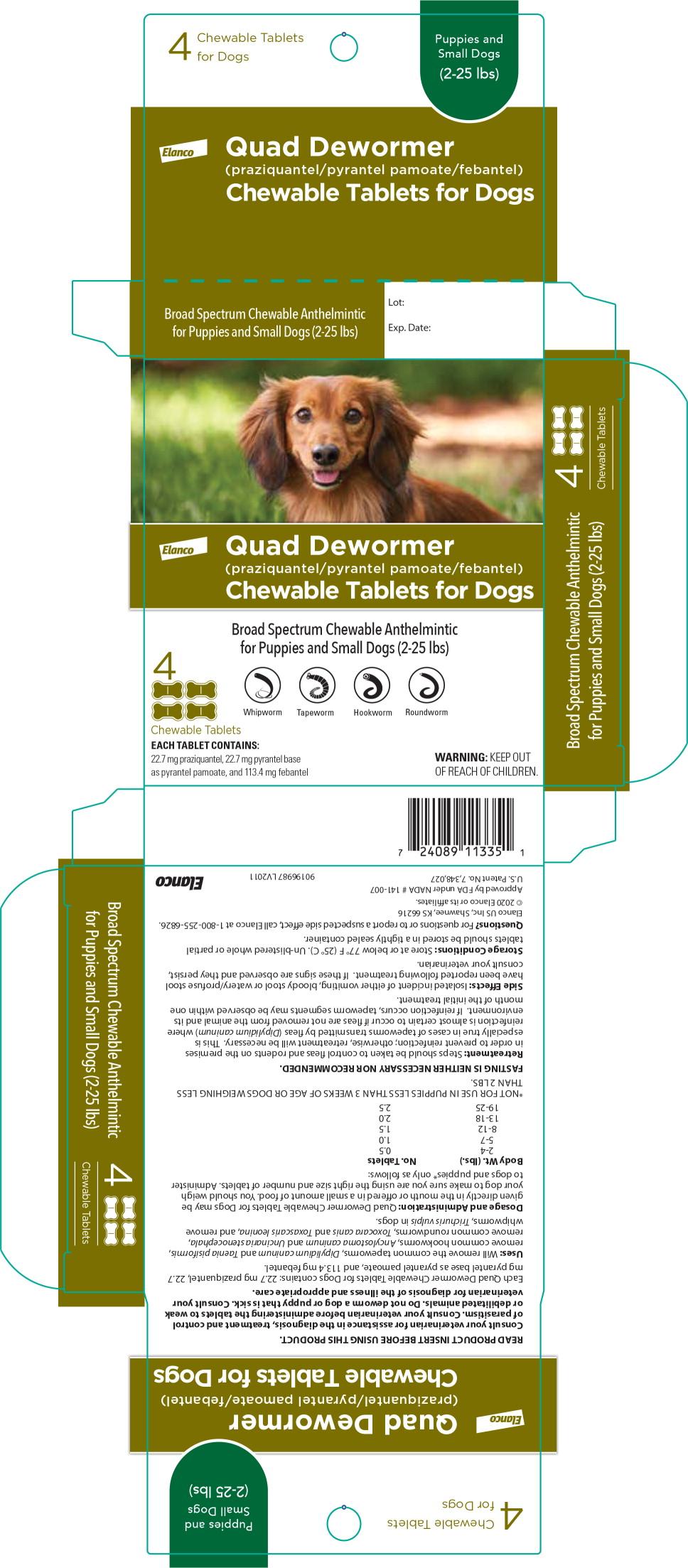 Principal Display Panel – Puppies and Small Dogs Carton Label