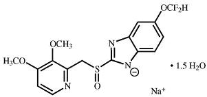 pantoprazole sodium structural formula