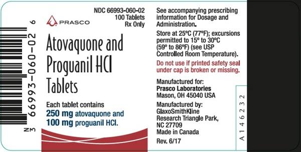 Atovaquone and Progauanil HCl 100 ct label Prasco