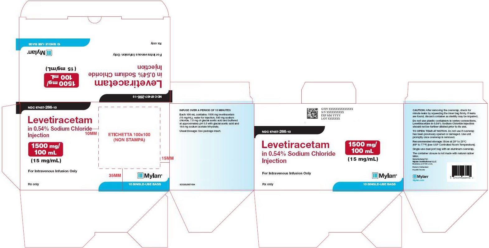Levetiracetam Sodium Chloride Injection 1500 mg/100 mL Carton Label