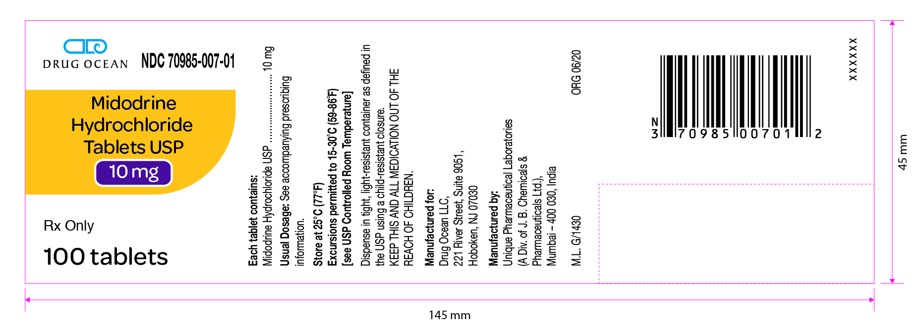 Midodrine-HCl-Tablets-USP-10mg-100ct