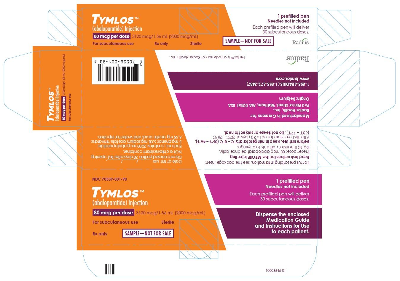Sample 80 mcg Carton Label