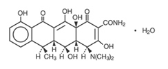 Doxycycline structural formula