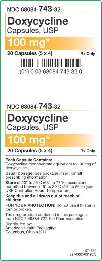 100 mg Doxycycline Capsules Carton - 20UD
