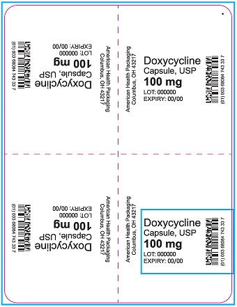 100 mg Doxycycline Capsule Blister - 20UD