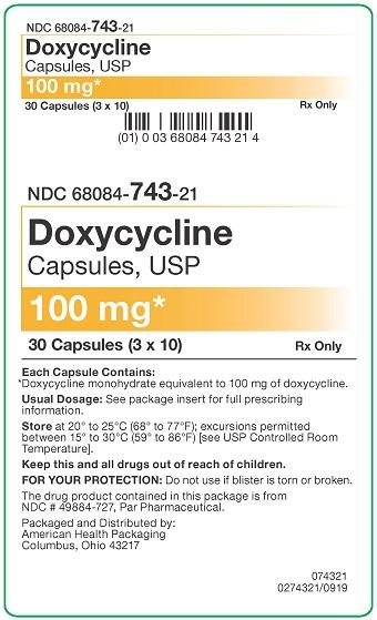 100 mg Doxycycline Capsules Carton - 30UD