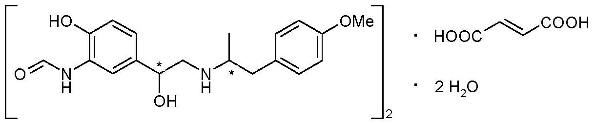 Formoterol Fumarate Chemical Structure
