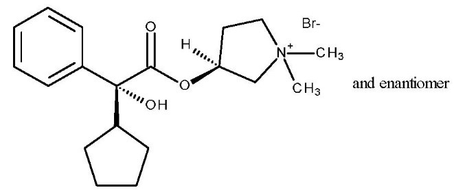Glycopyrrolate Chemical Structure