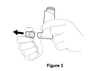 Figure 3 - priming your inhaler