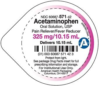 325 mg per 10.15 mL Acetaminophen Oral Solution Cup