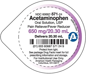 650 mg per 20.30 mL Acetaminophen Oral Solution Cup