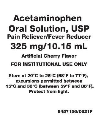 325mg per 10.15mL Acetaminophen Oral Solution Label