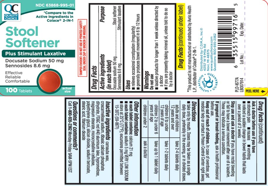 Docusate Sodium 50 mg, Sennosides 8.6 mg