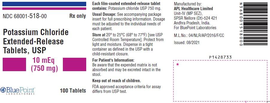 100 Tablet Label
