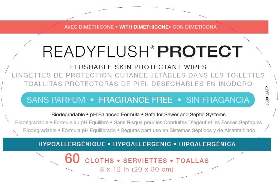 Readyflush Protect top label principal display panel