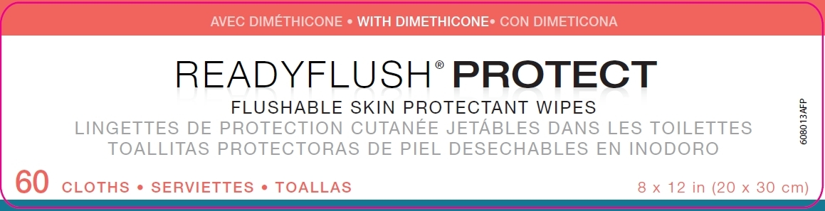 Readyflush Protect front label
