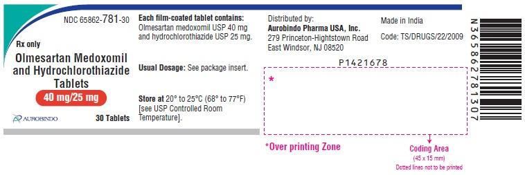 PACKAGE LABEL-PRINCIPAL DISPLAY PANEL - 40 mg/25 mg (30 Tablets Bottle)