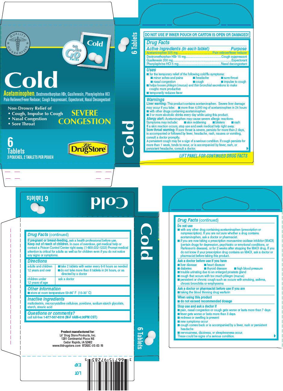 PRINCIPAL DISPLAY PANEL - 6 Tablet Pouch Carton