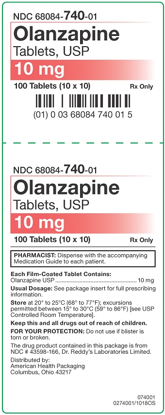 10 mg Olanzapine Tablets Carton