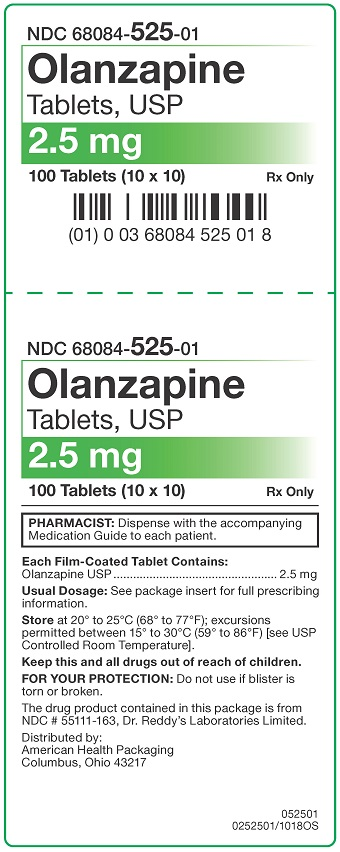 2.5 mg Olanzapine Tablets Carton
