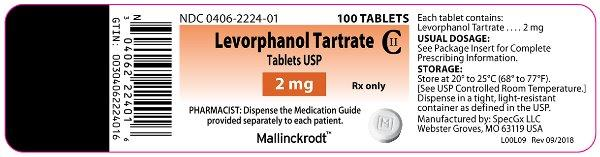 Package Display Panel - 2 mg Label