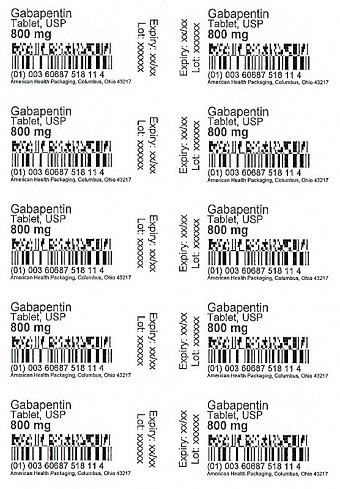 800 mg Gabapentin Tablet Blister