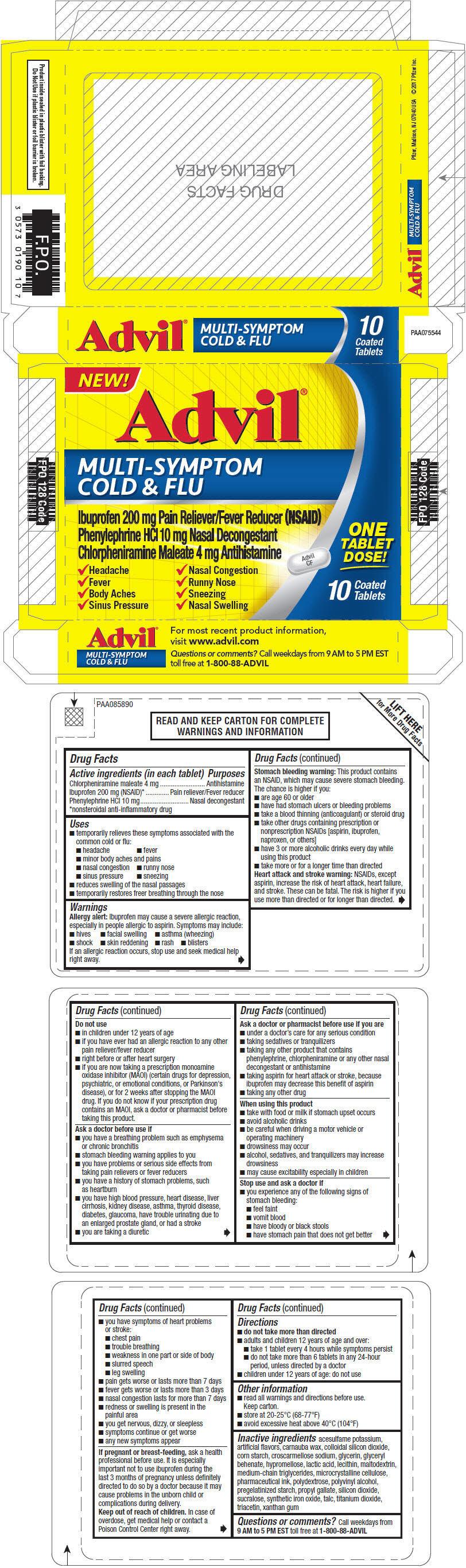 PRINCIPAL DISPLAY PANEL - 200 mg/10 mg/4 mg Tablet Blister Pack Carton