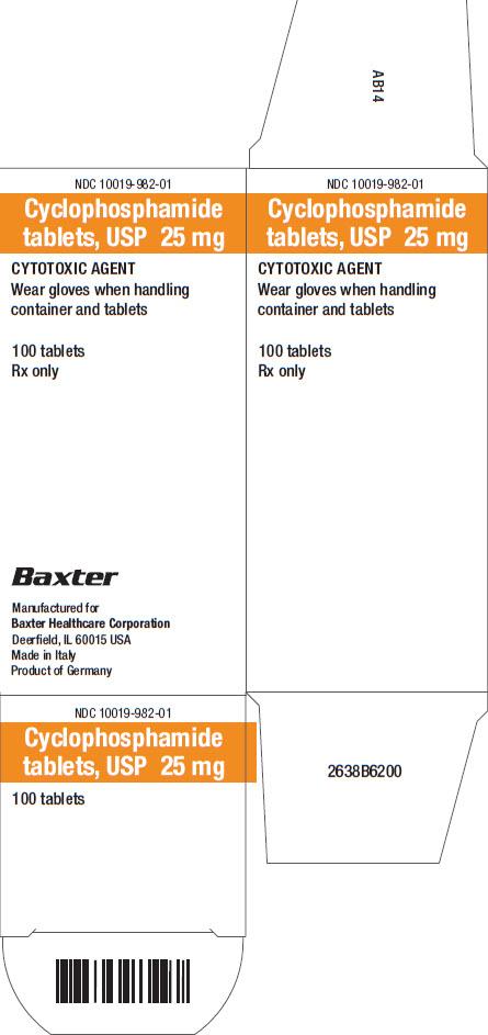 Cyclo Representative Carton Label  NDC: <a href=/NDC/10019-982-01>10019-982-01</a>  2 of  2