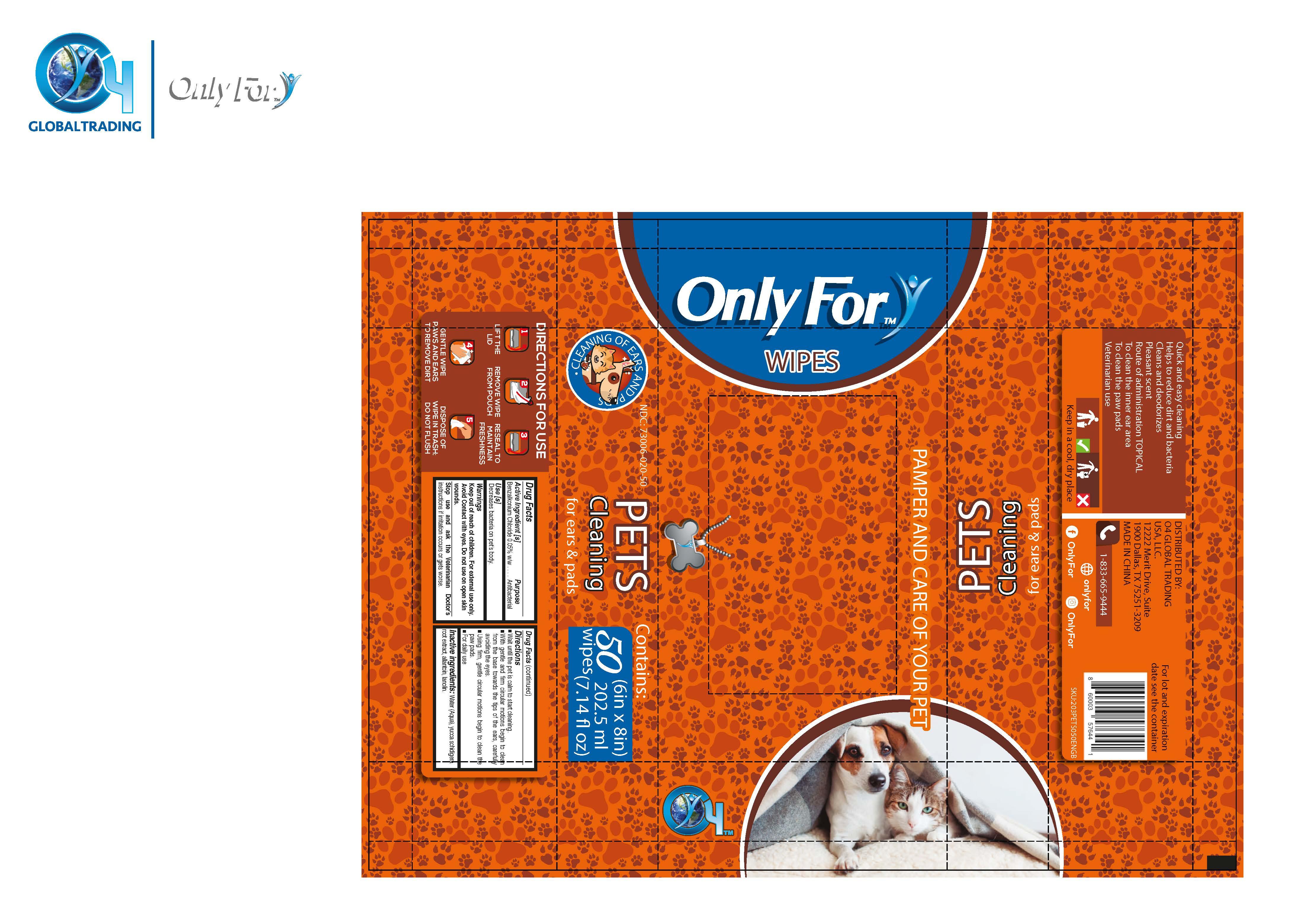 Pet Wipes Label