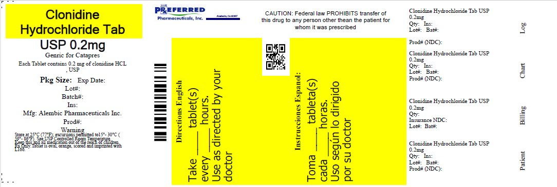 Clonidine Hydrochloride Tab USP 02mg