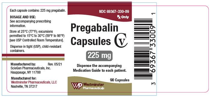 PRINCIPAL DISPLAY PANEL - 225 mg Capsule Bottle Label