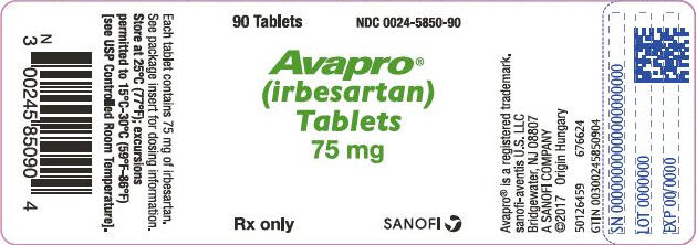 PRINCIPAL DISPLAY PANEL - 75 mg Tablet Bottle Label