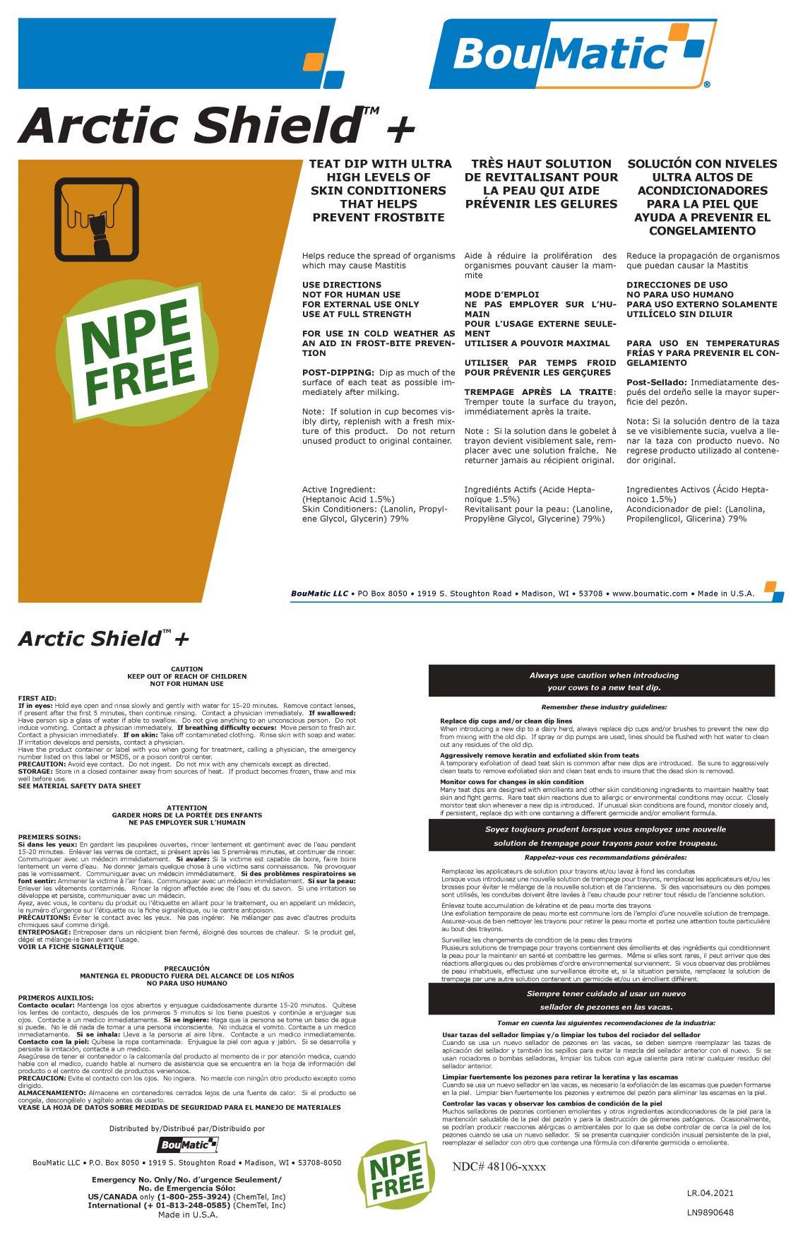 Arctic Shield Plus label