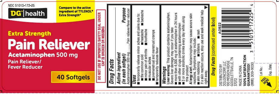 DG Extra Strength Pain Reliever 40ct-Front