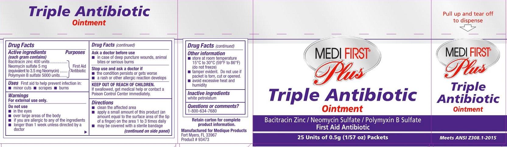 MFP Triple Antibiotic Saftec Label