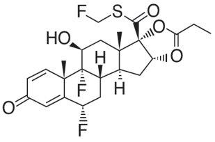 Fluticasone Propionate Structural Formula