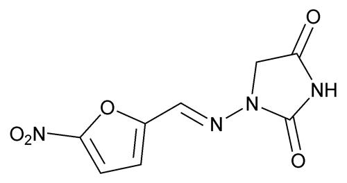 structural formula - nitrofurantoin, USP