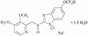 Pantoprazole sodium structure