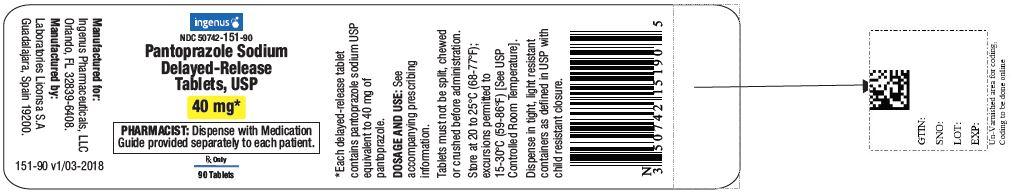 Pantoprazole sodium delayed-release tablets USP, 40 mg- 90 pack
