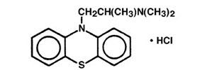 Promethazine structural formula