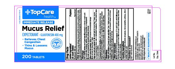 Mucus Relief Label