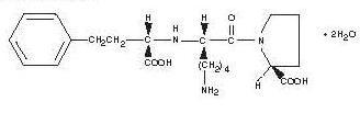 Structural Formula of Lisinopril