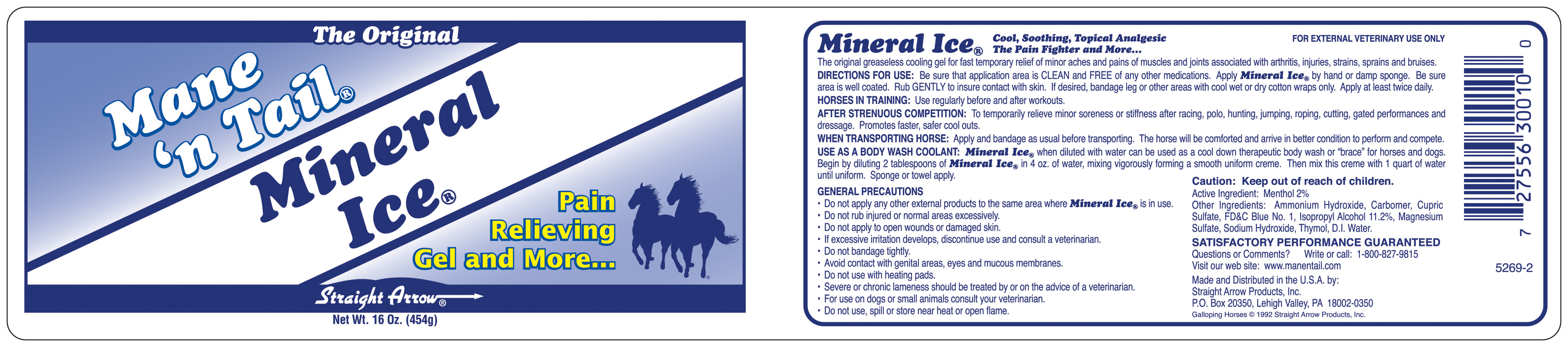Image of Mineral Ice Label