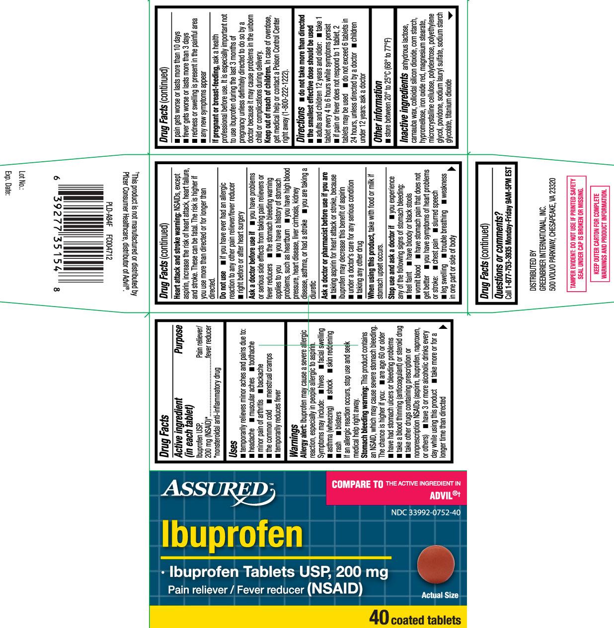 Ibuprofen USP, 200 mg (NSAID)* *nonsteroidal anti-inflammatory drug