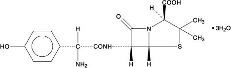 Amoxicillin Chemical Structure