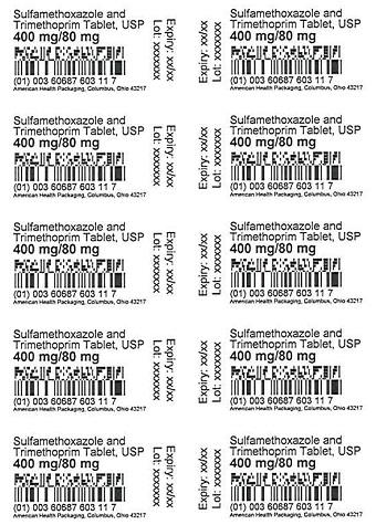 400 mg/80 mg Sulfamethoxazole and Trimethoprim Tablet Blister