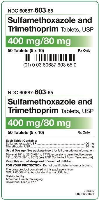 400 mg/80 mg Sulfamethoxazole and Trimethoprim Tablets Carton