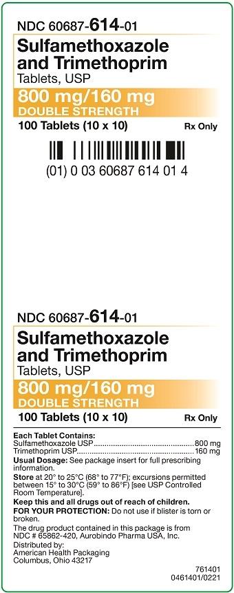 800 mg/160 mg Sulfamethoxazole and Trimethoprim Tablets Carton