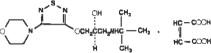 Timolol Maleate Structural Formula